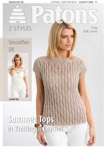 3900 Patons Summer Tops Smoothie DK Knitting Crochet Pattern